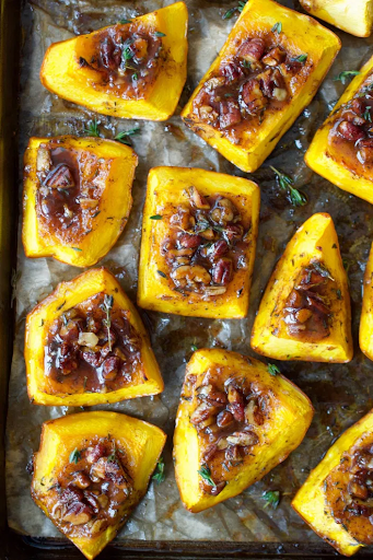Roasted Pumpkin with Honey, Thyme & Pecans