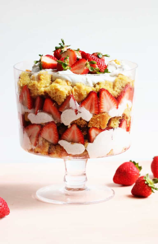 Strawberry Coconut Whipped Cream Trifle